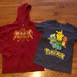 Boys XL Old Navy Pokémon and zip hoodie